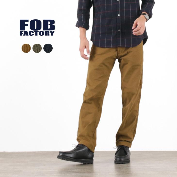 FOB FACTORY(FOBファクトリー)F0476 ファティーグ スラックス / メンズ / ベイカーパンツ / ワークパンツ / 日本製 / FATIGUE SLACKS
