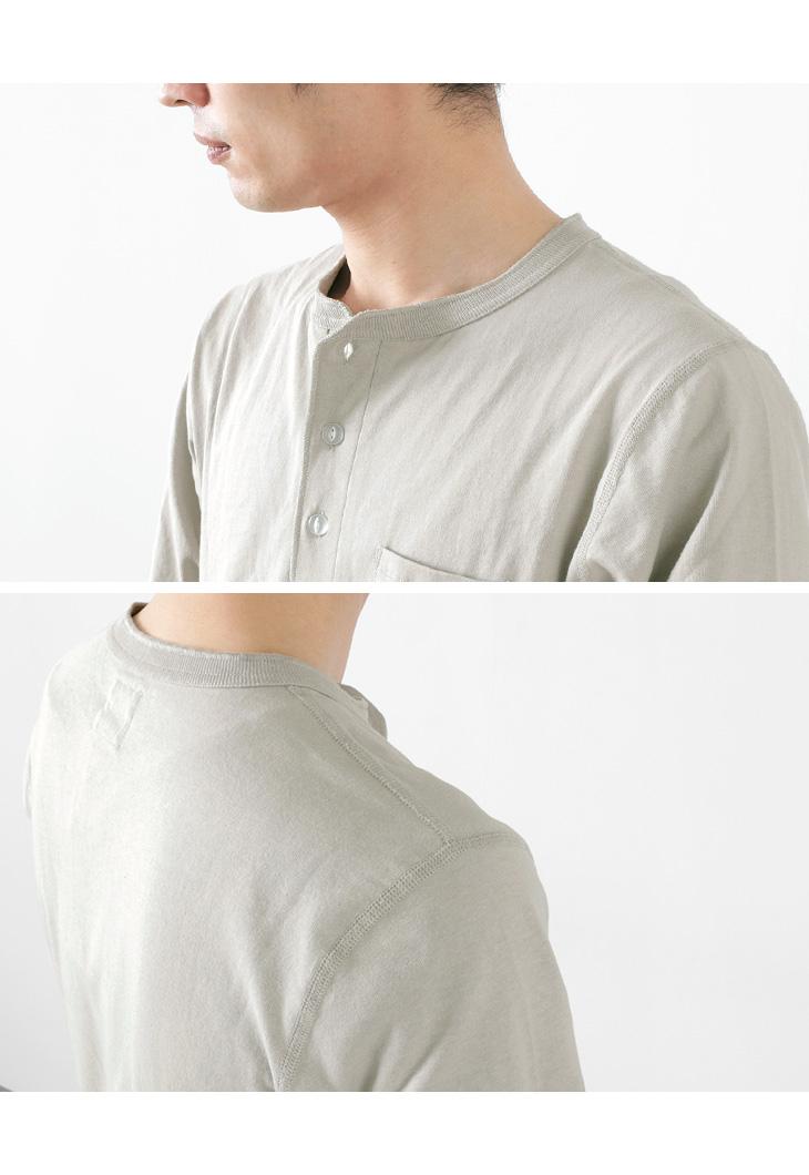 FELCO × HEALTH KNIT(フェルコ × ヘルスニット)ポケットヘンリーネックTシャツ / 長袖 / 抗菌防臭 吸汗速乾 / アメリカ コットン / 無地 / メンズ / 21024 /  L/S POCKET HENLY NECK T-SHIRT