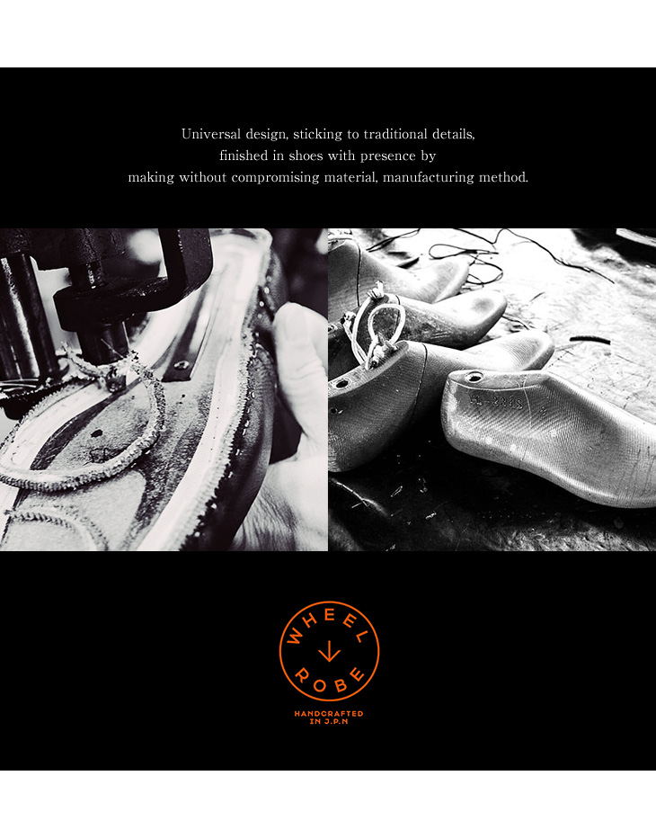 WHEEL ROBE(ウィールローブ) ヘビーステッチング モックトゥ スウェード シューズ / Uチップ / スーパーバック / メンズ / 日本製 / HEAVY STITCHING MOC TOE / #15078S / WIDTH :D