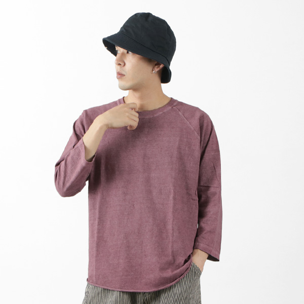 GOOD ON(グッドオン) ベースボール Tシャツ ラグラン 7分袖 / メンズ / 無地 / ピグメントダイ / アメリカ製生地 / 日本製 / GOLT-601