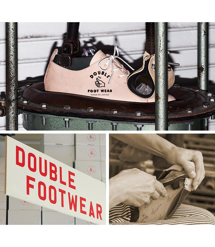 DOUBLE FOOT WEAR(ダブルフットウェア) 別注 ヘンドリック レザーシューズ ビブラムソール / チロリアン ブーツ / 革靴 スニーカー / メンズ / 牛革 / 日本製 / 2ホール / Hendrik