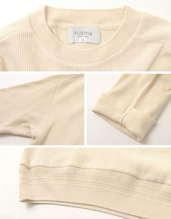 FLISTFIA(フリストフィア) コットンリネンワッフルクルー / 7分袖 / Tシャツ 半袖 / メンズ / 日本製 / 3/4SLEEVE SWEATER
