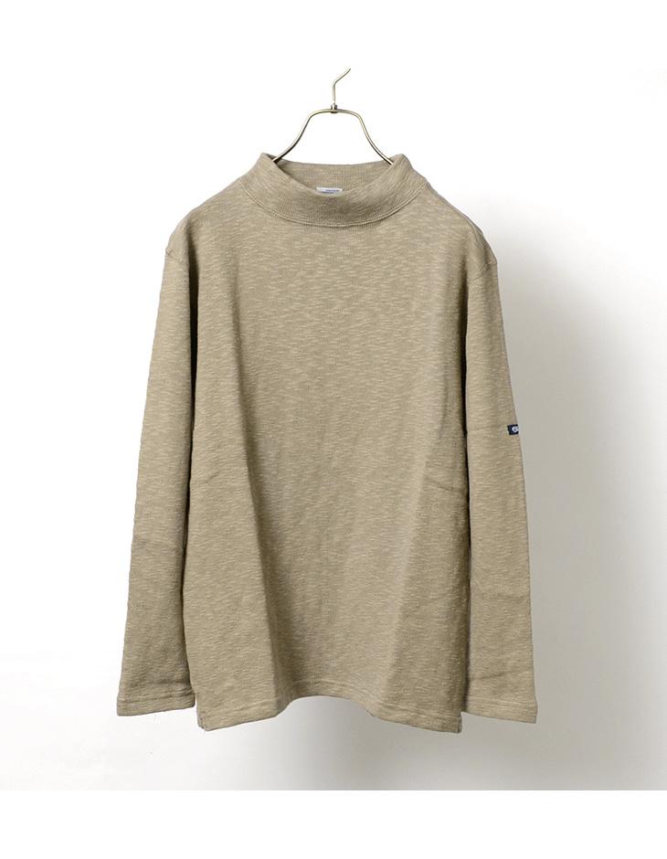 TIEASY(ティージー) オーガニックモックネックTシャツ / 長袖 / 無地 / コットン / メンズ / 日本製