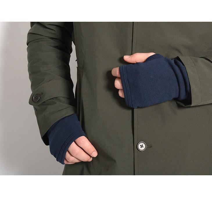 【期間限定!10%OFFクーポン対象】LOCALINA MERIYASU(ロカリナメリヤス) アームウォーマー / 指なし 手袋 グローブ / あったか 厚手 裏起毛 / メンズ レディース / 日本製