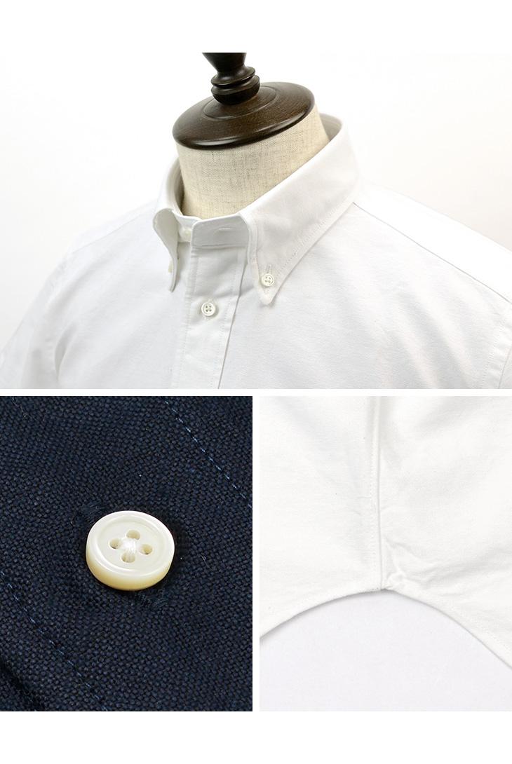 【期間限定!クーポンで10%OFF】ROCOCO(ロココ) アメリカン オックスフォード S/S クラシック ボタンダウンシャツ 半袖 / アメリカンフィット / メンズ 無地 / 日本製 / US Oxford S/S B.D Shirt