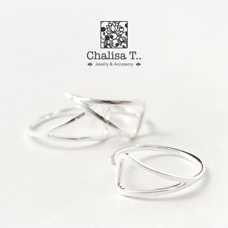 【期間限定!クーポンで10%OFF】CHALISA T..(チャリッサ・ティー) エクストラファインシルバーリング / 二等辺三角形 / シルバー925 / 指輪 / レディース
