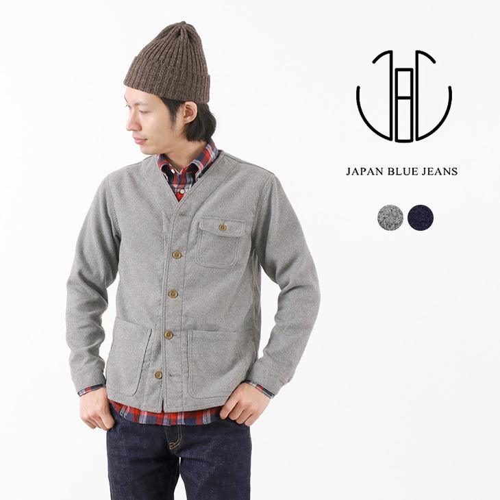 JAPAN BLUE JEANS(ジャパンブルージーンズ) J4138J01 ノーカラージャケット / メルトンフリース / ワーク / メンズ / 岡山 日本製