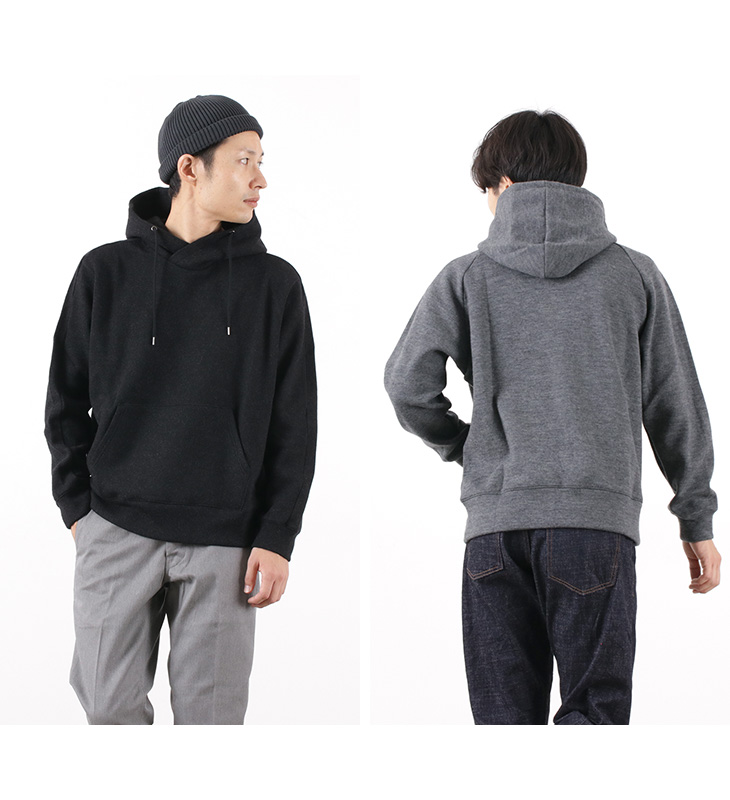 RE MADE IN TOKYO JAPAN(アールイー) ウールダブルフェイス アウターパーカー / プルオーバー / フーディー / メンズ / 日本製 / WOOL DOUBLE FACE OUTER PARKA