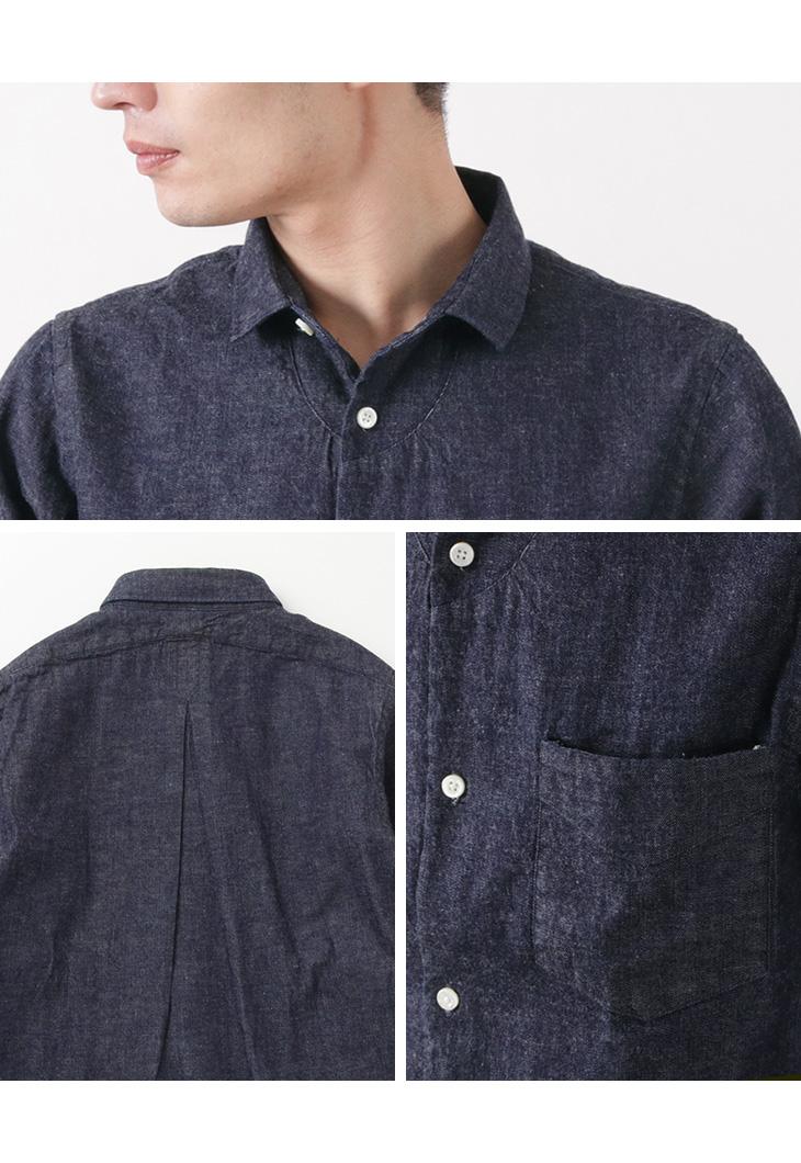 JAPAN BLUE JEANS(ジャパンブルージーンズ) J351035 8オンスデニム ボーノシャツ / メンズ / コートジボワール綿 / セルヴィッチデニム / ワークシャツ / 8OZ BOUNO SHIRT
