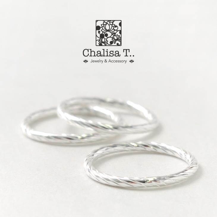 【期間限定!クーポンで10%OFF】CHALISA T..(チャリッサ・ティー) エクストラファイン シルバー リング / ハイポリッシュサークル / シルバー925 / 指輪 / レディース