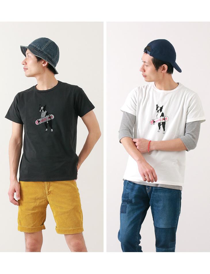 【期間限定!クーポンで10%OFF】REMI RELIEF(レミレリーフ) 別注 LW加工 プリント Tシャツ(DOG) / メンズ / 半袖 / 日本製
