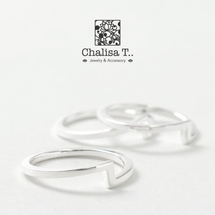 CHALISA T..(チャリッサ・ティー) エクストラファイン シルバー リング / ハイポリッシュ サンダー / シルバー925 / 指輪 / レディース