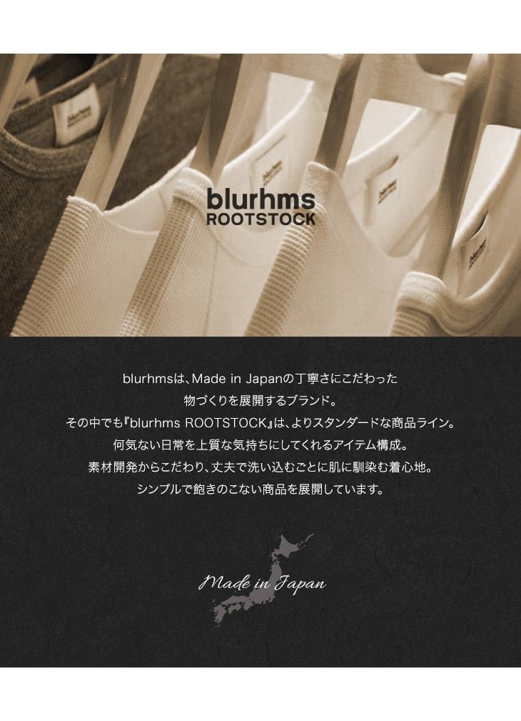 【20%OFF】BLURHMS(ブラームス)フェリダエ ルーズフィット Tシャツ / プリント / 半袖 / メンズ / 無地 / 日本製【セール】