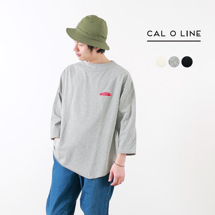 【50%OFF】CAL O LINE(キャルオーライン) ライトウエイト ヒッピープルオーバー / Tシャツ / 7分袖 / メンズ / 日本製 / LIGHTWEIGHT HIPPIE PULL OVER【セール】