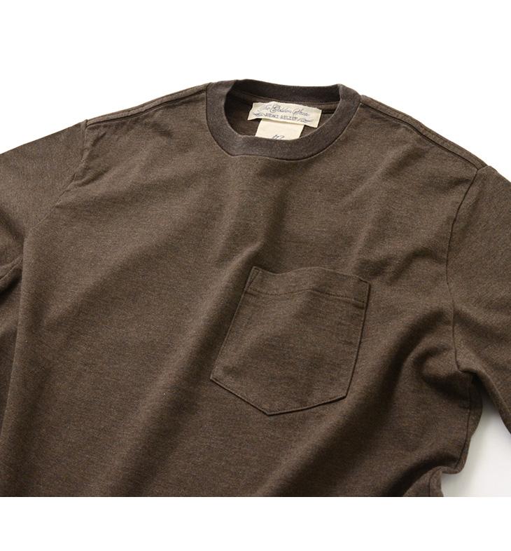【期間限定!クーポンで10%OFF】REMI RELIEF(レミレリーフ) メランジ スーパー度詰 天竺 クルーネック Tシャツ / メンズ / ポケット / 半袖 / 無地 / 日本製