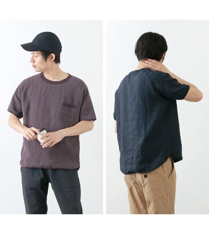 RE MADE IN TOKYO JAPAN(アールイー) フレンチリネン Tシャツ / プルオーバー 半袖シャツ / メンズ / 日本製 / FRENCH LINEN T-SHIRT