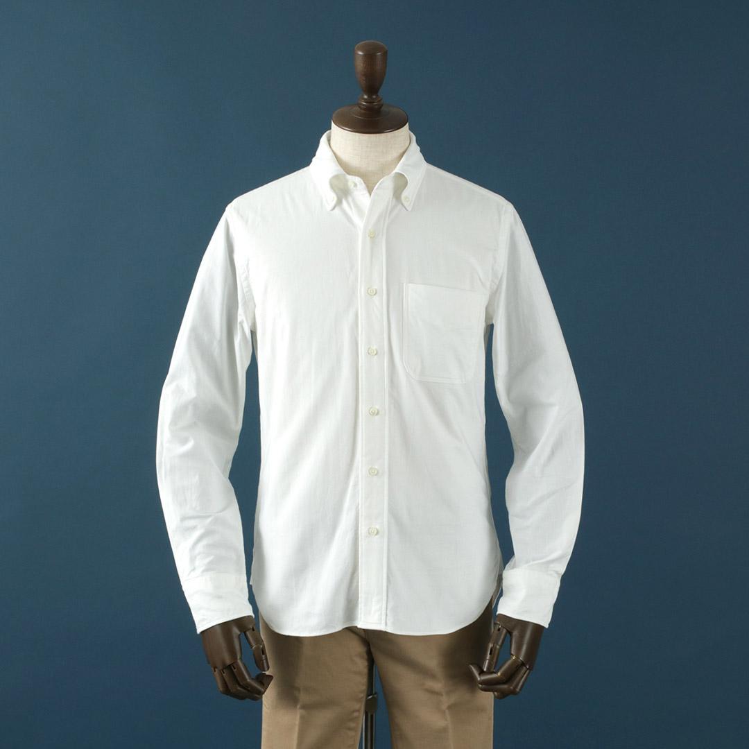 ROCOCO(ロココ) ボタンダウン シャツ プレミアム オックスフォード / スタンダードフィット / メンズ / 長袖 / 無地 / ストライプ / スーピマ コットン  / BDシャツ / 日本製