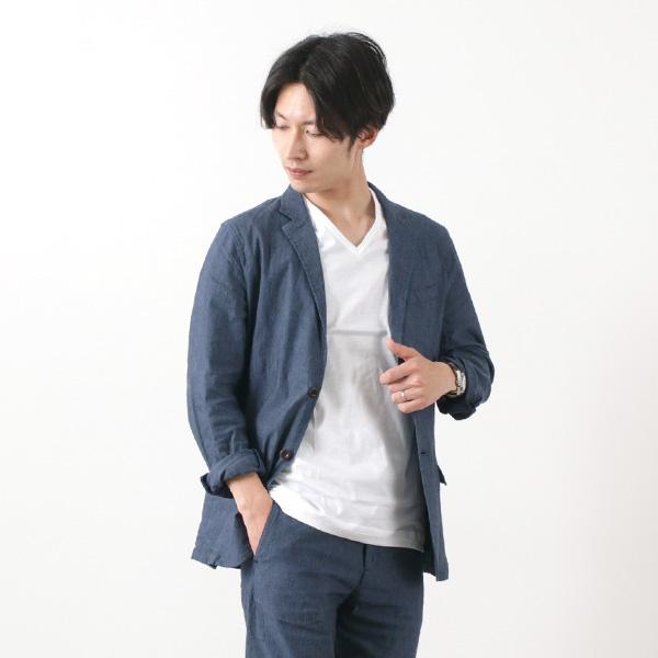 JAPAN BLUE JEANS(ジャパンブルージーンズ) 別注 フレンチ ブリージージャケット / 麻 / レーヨン / ストレッチ / メンズ / 岡山 日本製 / クールビズ / FRENCH BREEZY JACKET