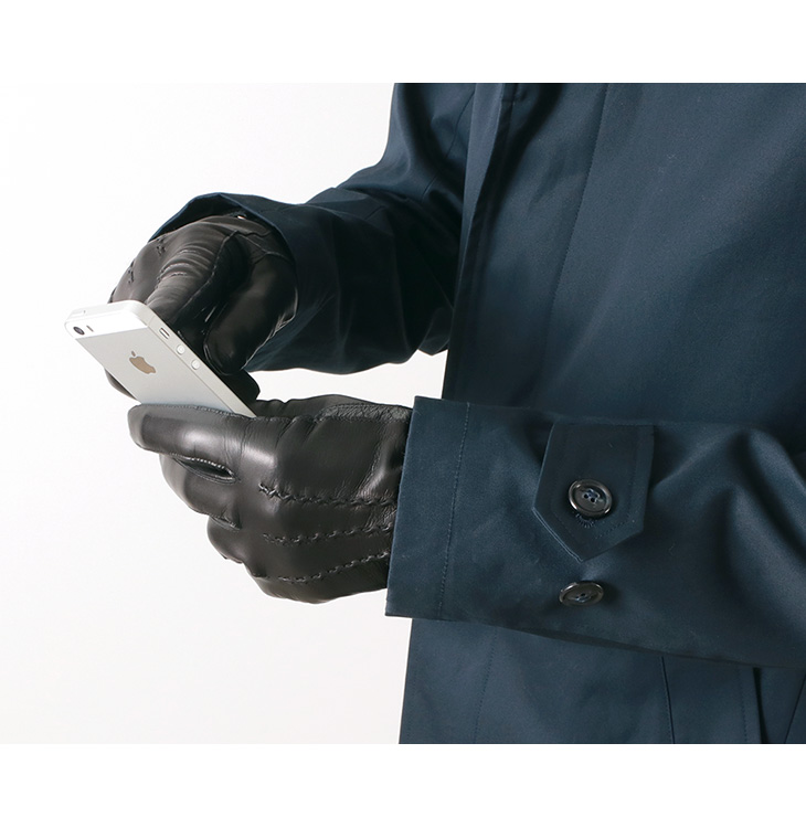 【期間限定!クーポンで10%OFF】GLOVES(グローブス) スマートフォン ラムレザー グローブ / 本革手袋 / スマホ対応 / メンズ / イタリア製