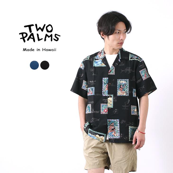 TWO PALMS(トゥーパームス) ハワイアンシャツ レーヨン / POSTCARD / メンズ / アロハシャツ / 半袖
