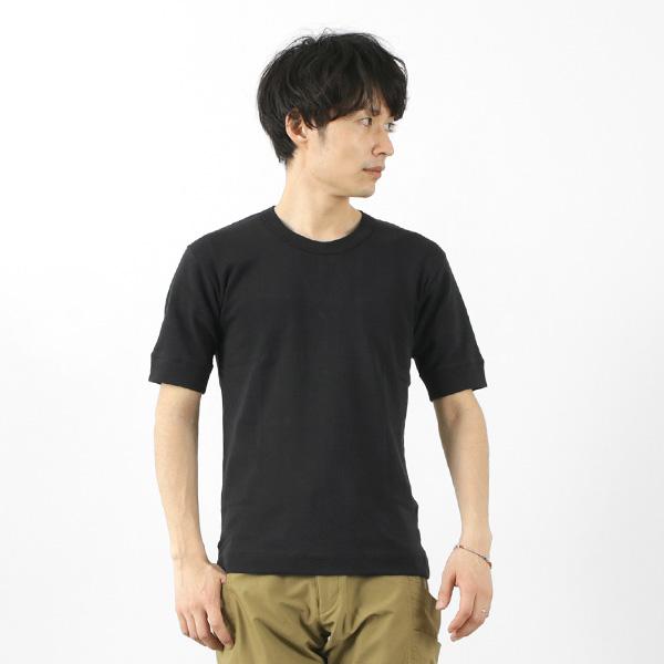 GICIPI(ジチピ) サルモーネ フライス クルーネックTシャツ / 無地 / 半袖 / メンズ / ドレープ / フライス編み / イタリア製 / 2101P / SALMONE