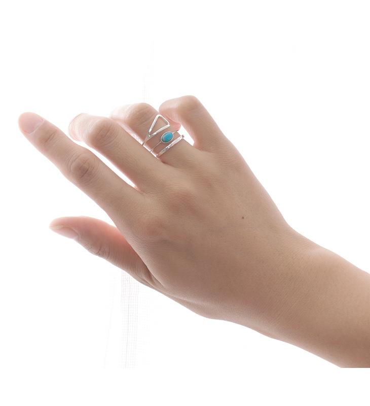 CHALISA T..(チャリッサ・ティー) ターコイズ オーバルカット エクストラファイン リング 極細 / 華奢 / シルバー925 / 指輪 / レディース