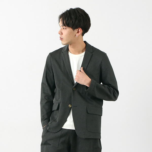【期間限定!クーポンで10%OFF】RE MADE IN TOKYO JAPAN(アールイー) ドレスジャージー ジャケット / メンズ / セットアップ / テーラードジャケット / 日本製 / DRESS JERSEY JACKET