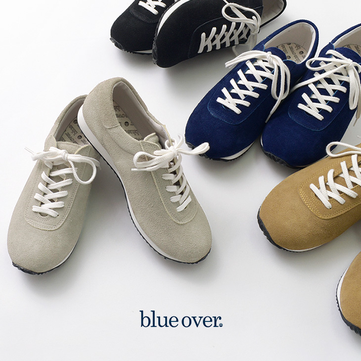 【期間限定!クーポンで10%OFF】BLUEOVER(ブルーオーバー) スエード スニーカー / マイキー MIKEY / スウェードレザー / ローカット / 日本製
