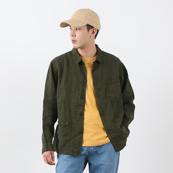 FOB FACTORY(FOBファクトリー) F2413 ヘンプ シャツ ジャケット / メンズ / ライトアウター / 羽織り / 薄手 / 涼しい / シンプル / HEMP SHIRT JK