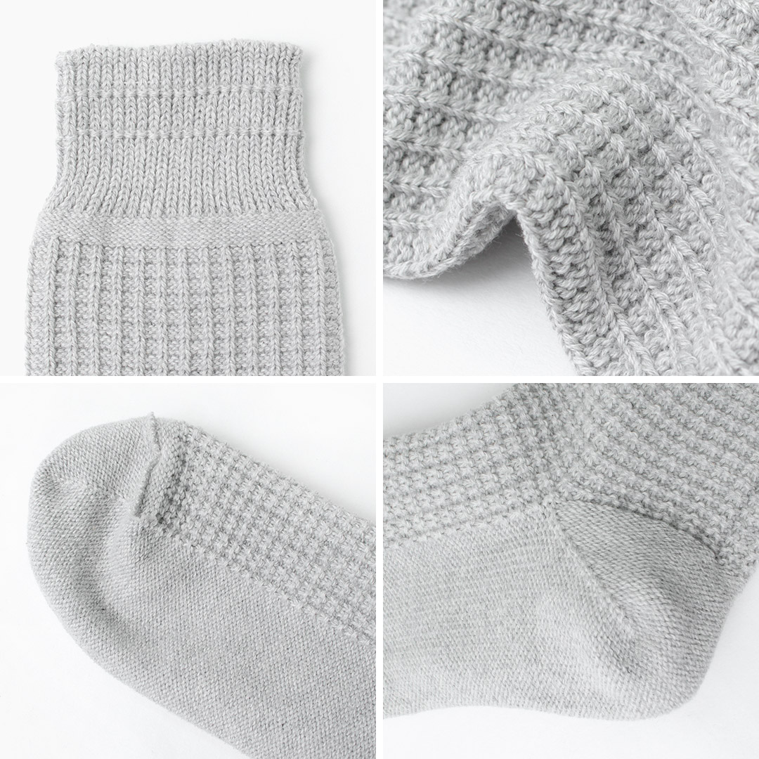 ROTOTO(ロトト) R1110コットンワッフルソックス / メンズ / レディース / 靴下 / 日本製