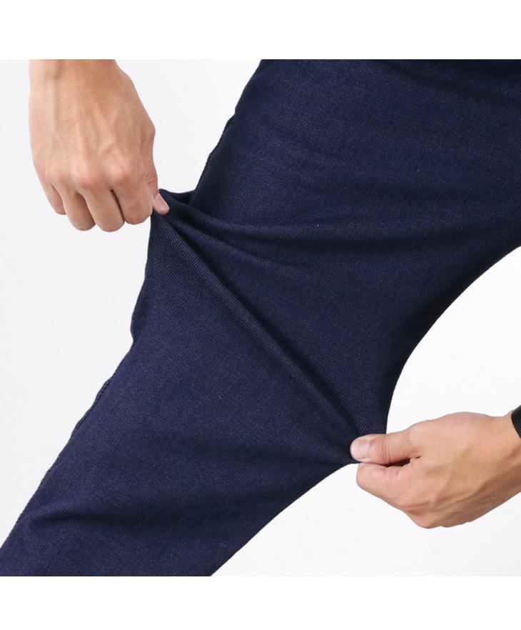 FOB FACTORY (FOBファクトリー) F0475 デニム イージーパンツ / メンズ / 裏起毛 / 暖パン / 日本製 / DENIM EASY PANTS