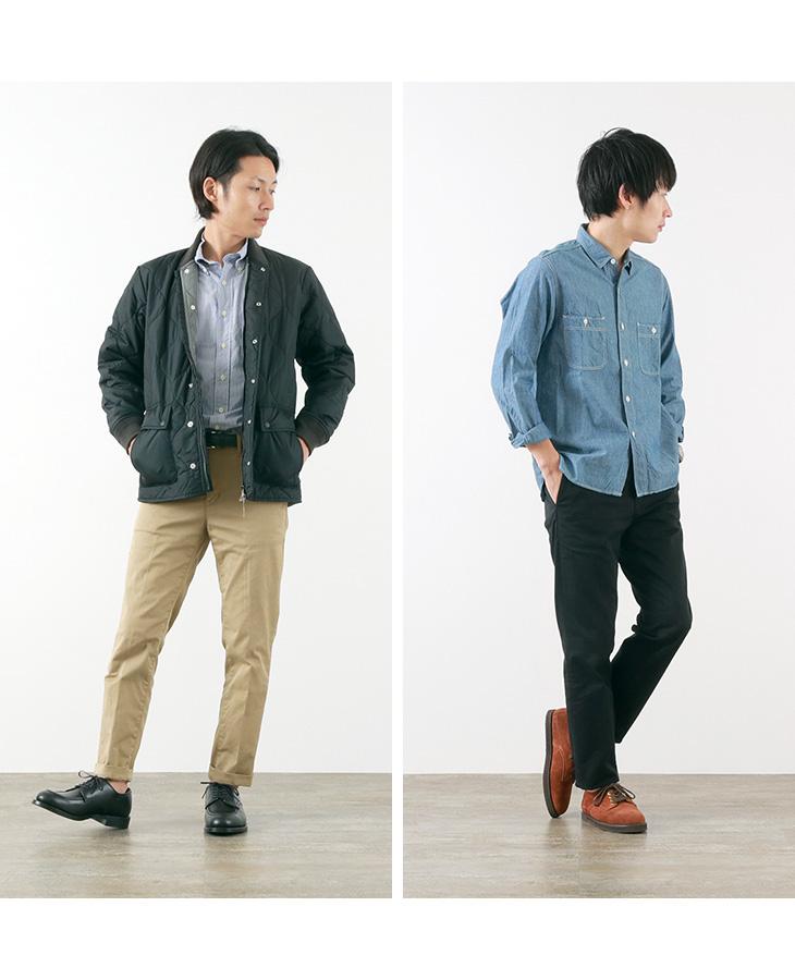 【期間限定!クーポンで10%OFF】JAPAN BLUE JEANS(ジャパンブルージーンズ) 別注 RJB4600  オフィサー テーパード トラウザー / フレンチワーク チノ / ストレッチ / メンズ / 岡山 日本製