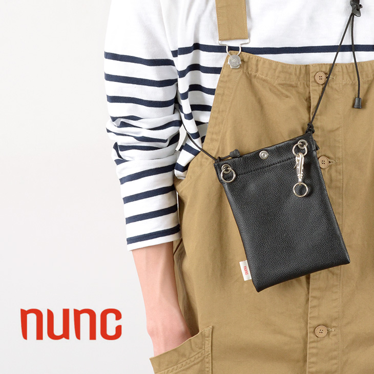 NUNC(ヌンク) ポーチ 撥水レザー/ メンズ レディース / ユニセックス / ショルダー バッグ / 防水 / はっ水 / ミニバッグ / バッグインバッグ / NN452010 / POUCH WATER REPELLENT LEATHER