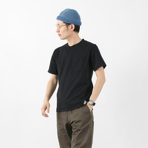 FELCO × HEALTH KNIT(フェルコ × ヘルスニット) クロスネック ポケット Tシャツ / 半袖 / 抗菌 防臭 吸汗 速乾 / アメリカ コットン / 無地 / メンズ / 21016 / S/S CROSSNECK POCKET-T
