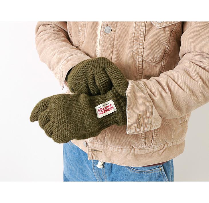 【期間限定!クーポンで10%OFF】NEWBERRY KNITTING(ニューベリーニッティング) ラグウール グローブ / 手袋 / ボア フリース / あったか 厚手 / メンズ レディース