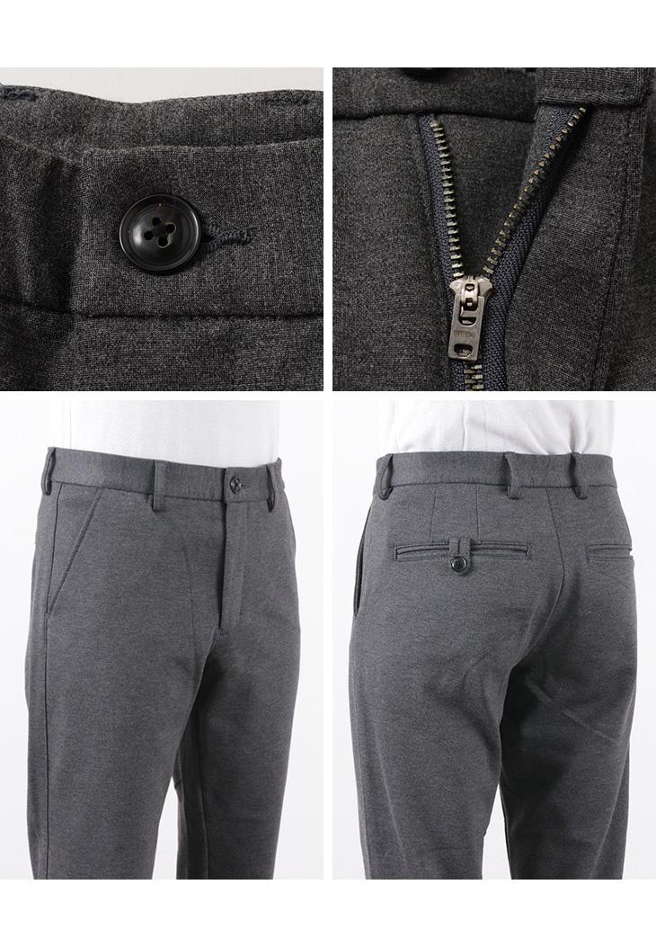 RE MADE IN TOKYO JAPAN(アールイー) ドレスニット スラックス / メンズ / テーパード パンツ / セットアップ / 日本製 / DRESS KNIT SLACKS