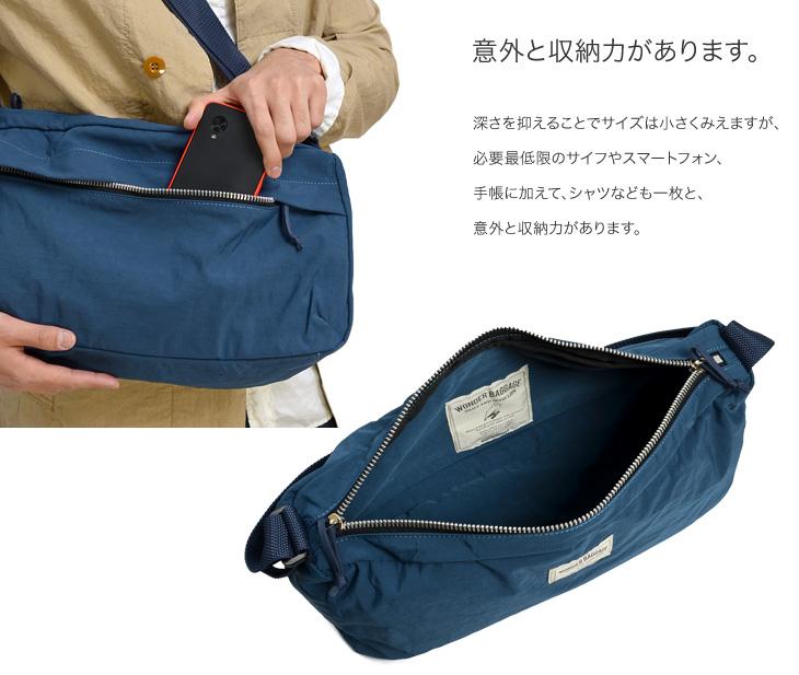 WONDER BAGGAGE(ワンダーバゲージ) サニー リラックス ショルダーバッグ / メンズ レディース 斜めがけ / 日本製