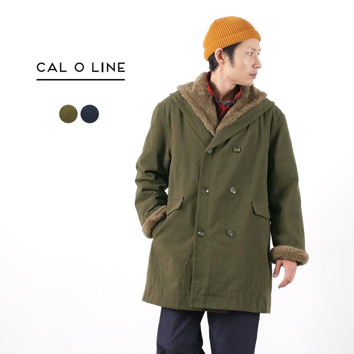 CAL O LINE(キャルオーライン) アーミー ボアコート / デッキコート / ショールカラー / ダブルボタン / ダブルブレスト / メンズ / 日本製 / ARMY BOA COAT / CL192-095