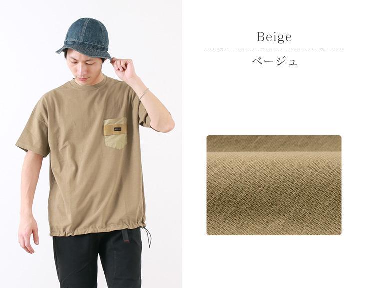 【30%OFF】REMI RELIEF × BRIEFING(レミレリーフ × ブリーフィング) コラボ ポケット Tシャツ 1 / 2019年モデル / ビッグシルエット / 半袖 / ポケット / メンズ / 日本製【セール】