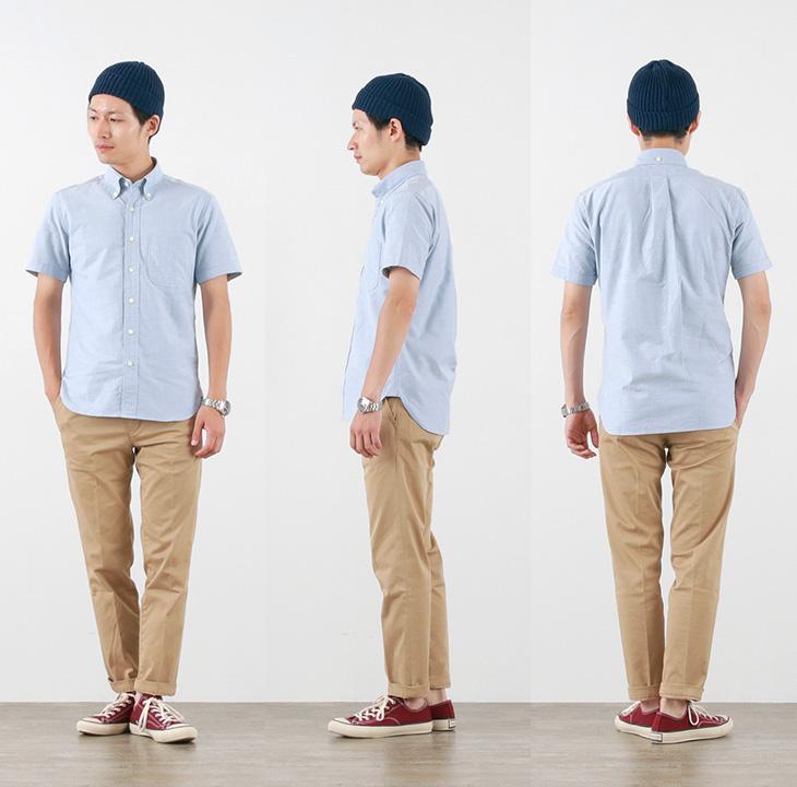 【期間限定!クーポンで10%OFF】ROCOCO(ロココ) ボタンダウンシャツ プレミアム オックスフォード / スタンダードフィット / 半袖 / メンズ 日本製