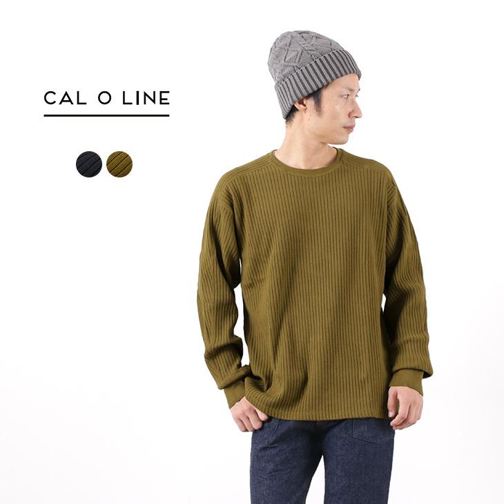 【50%OFF】CAL O LINE(キャルオーライン) ミリタリー クルーネックカットソー 針抜きフライス/ 長袖 / メンズ / 日本製【セール】