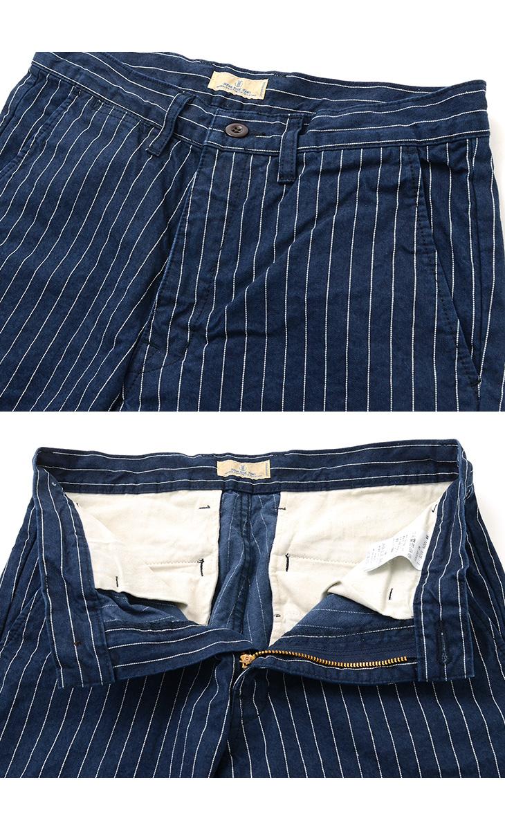 JAPAN BLUE JEANS(ジャパンブルージーンズ) J322431 ニーショーツ / オールドストライプ / メンズ / ショートパンツ / 日本製 / KNEE SHORTS/OLD STRIPE