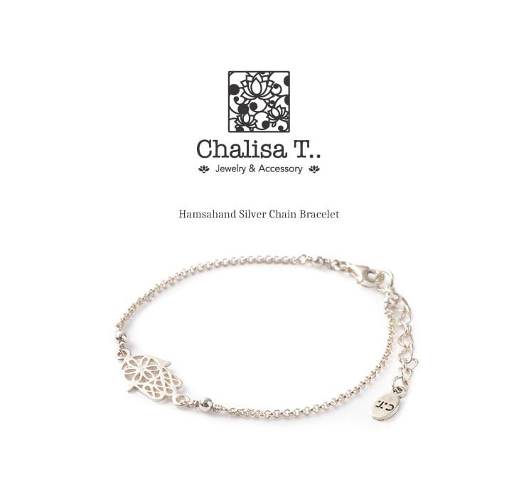 CHALISA T..(チャリッサ・ティー) ハムサハンド シルバーチェーン ブレスレット / レディース / シルバー925