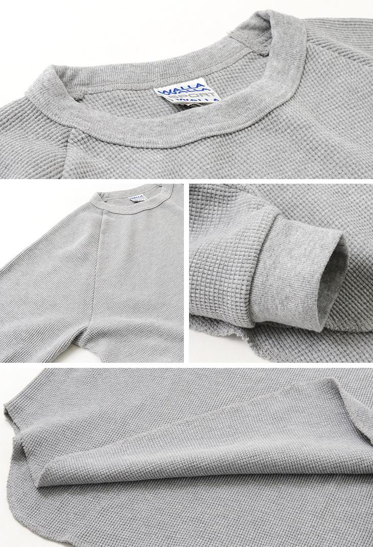 【50%OFF】WALLA WALLA SPORT(ワラワラスポーツ) ロングスリーブ サーマル ルーズ ベースボール Tシャツ / メンズ / 無地 長袖 / 日本製【セール】