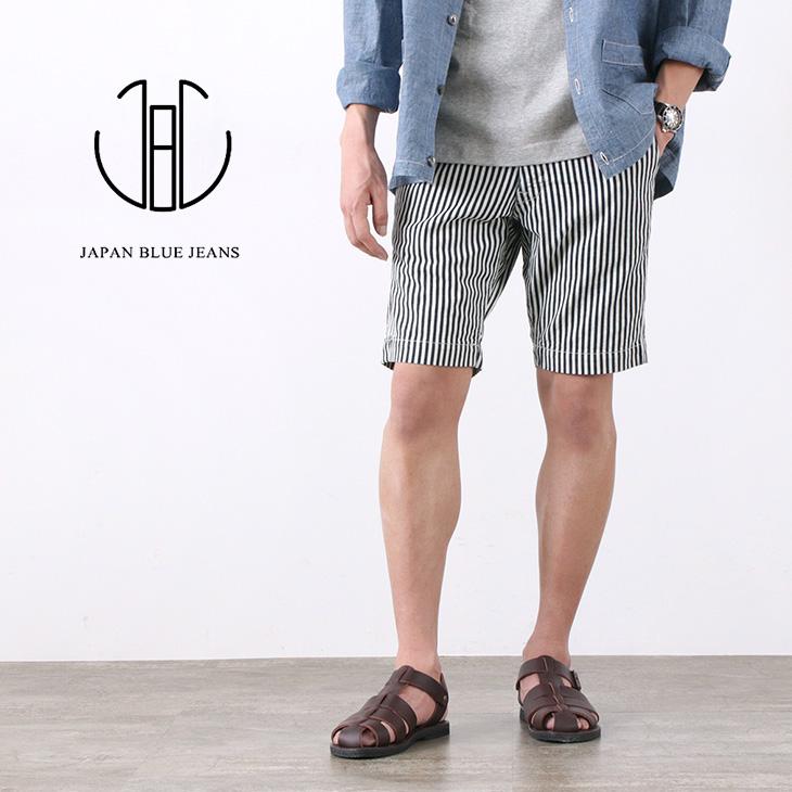 JAPAN BLUE JEANS(ジャパンブルージーンズ) J322411 ニーショーツ / ヒッコリー / メンズ / ショートパンツ / 日本製 / KNEE SHORTS/HICKORY