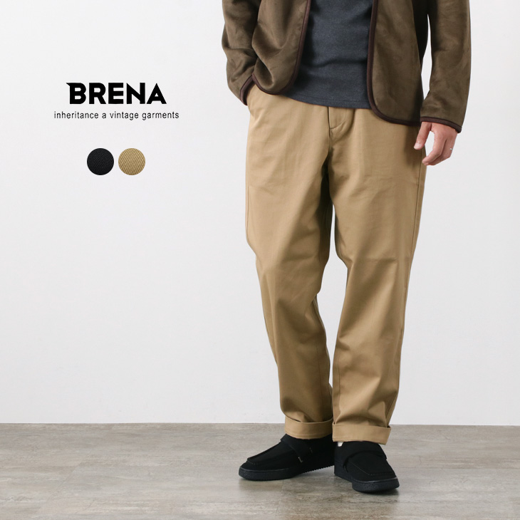 【期間限定!クーポンで10%OFF】BRENA(ブレナ) USウエストポイント ストリングトラウザー / イージーパンツ / メンズ / 日本製 / US WEST POINT STRING TROUSERS