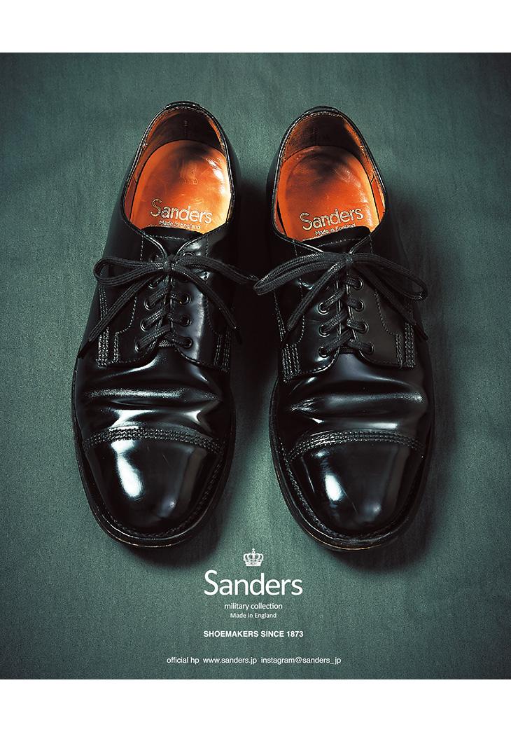 【期間限定!クーポンで10%OFF】SANDERS(サンダース) #1128 ミリタリーダービーシューズ / レザーシューズ レザーブーツ ドレスシューズ / メンズ / 外羽根 ストレートチップ レースアップ / 英国製 / クールビズ
