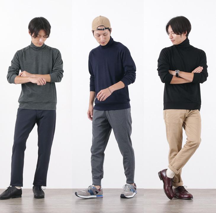 RE MADE IN TOKYO JAPAN(アールイー) ドレスウール ジャージー タートルネック / メンズ / 日本製 / DRESS WOOL JERSEY TURTLE NECK