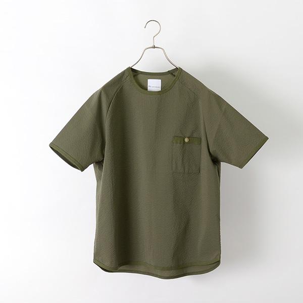 【期間限定!クーポンで10%OFF】RE MADE IN TOKYO JAPAN(アールイー) リラックス シアサッカー Tシャツ / クールマックス COOL MAX / プルオーバー 半袖シャツ / メンズ / 日本製 / RELAX SEER SUCKER T-SHIRT
