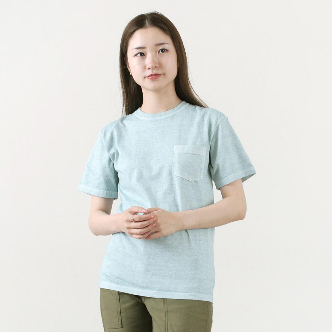GOOD ON(グッドオン) ショートスリーブ ベーシック ポケット クルーネック Tシャツ / メンズ レディース / 半袖 無地 / ピグメントダイ / アメリカ製生地 / 日本製 / GOST0903 / S/S POCKET TEE
